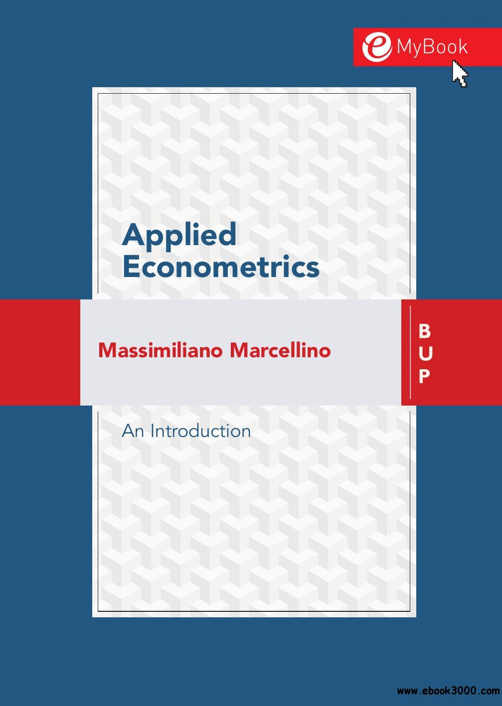 Applied Econometrics: An Introduction