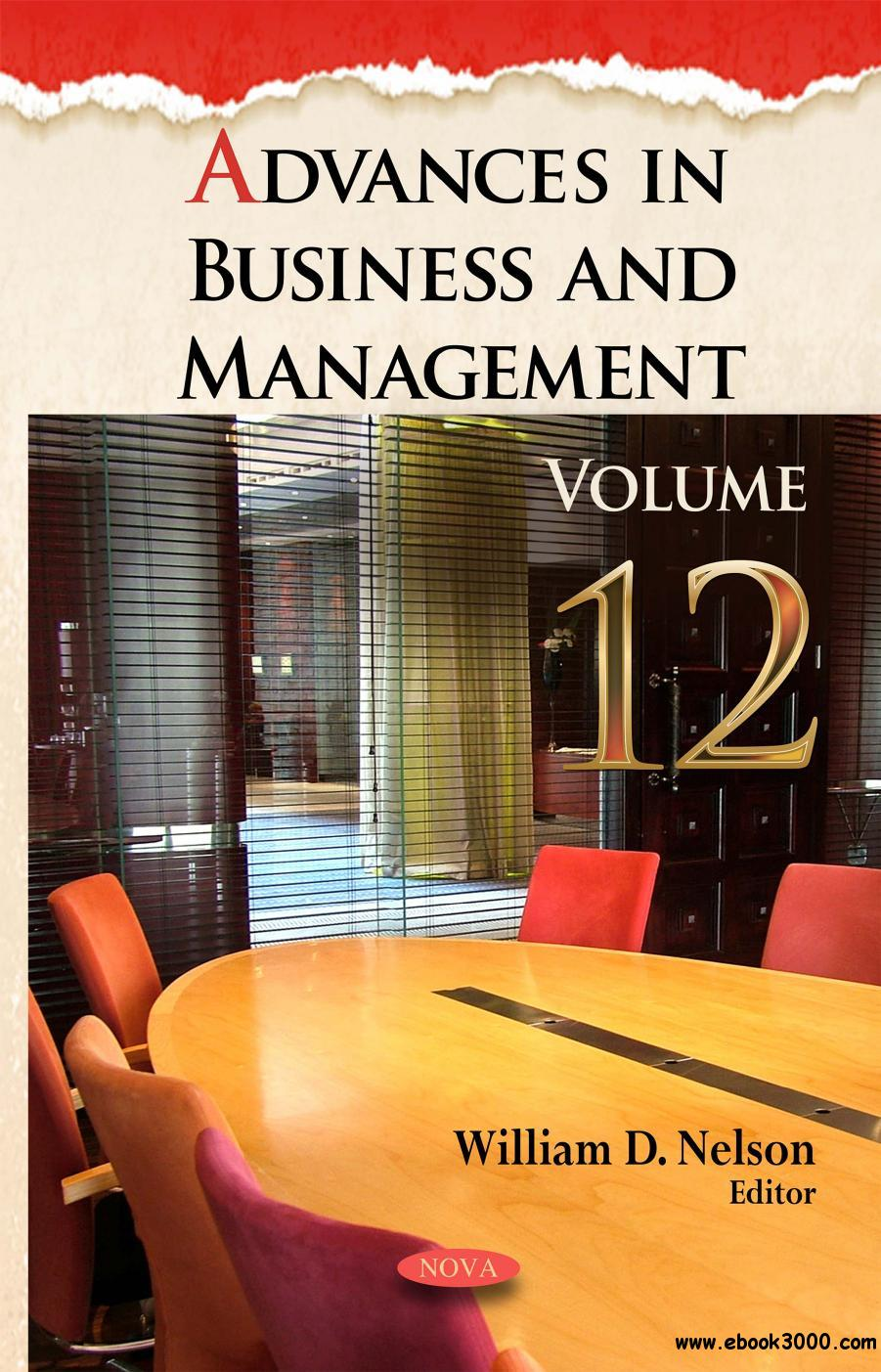 Advances in Business and Management (Advances in Business and Management Forecasting), Volume 12