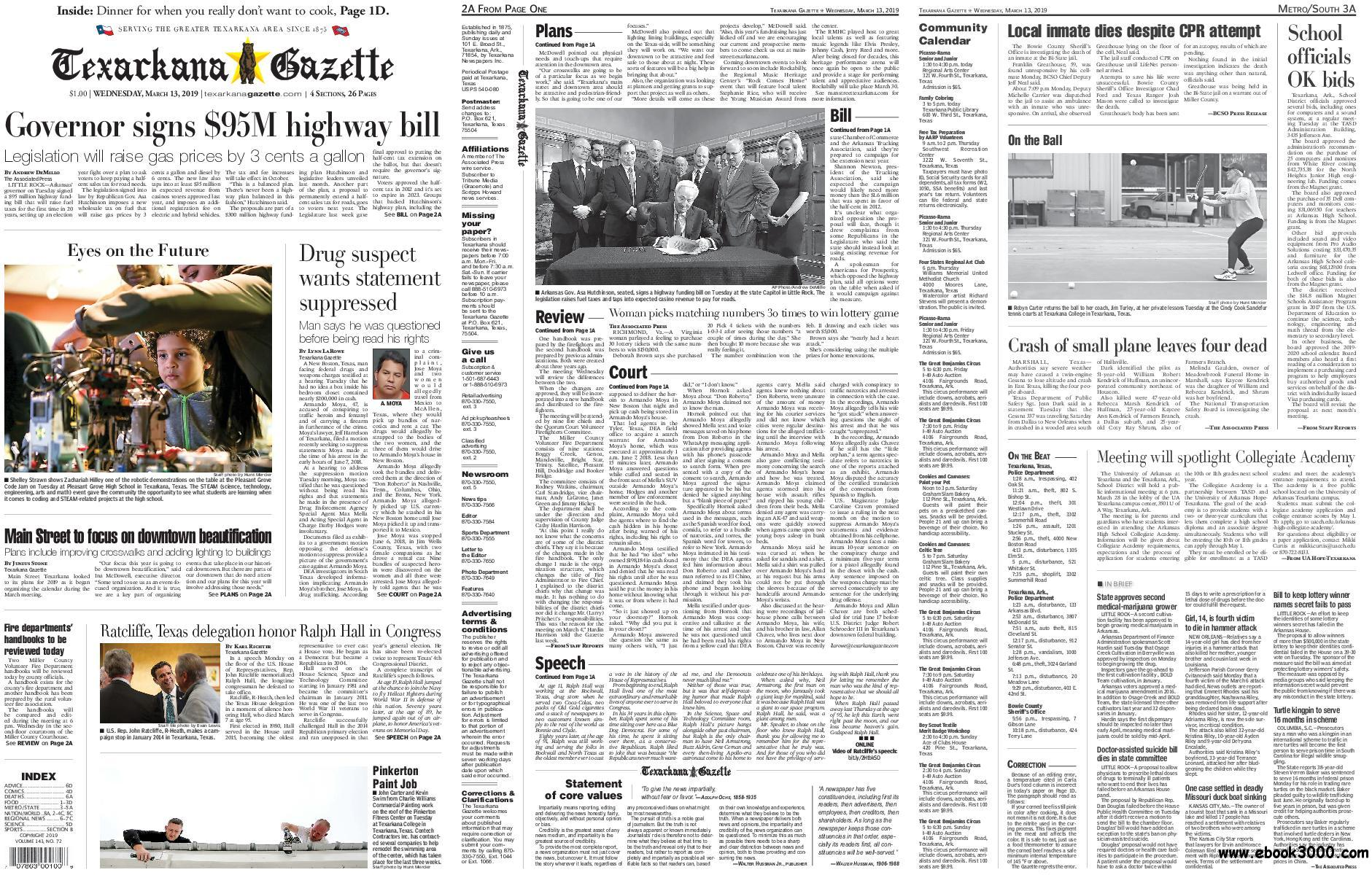 The Texarkana Gazette - March 13, 2019