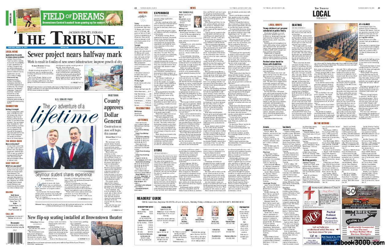 The Tribune Jackson County, Indiana - March 14, 2019