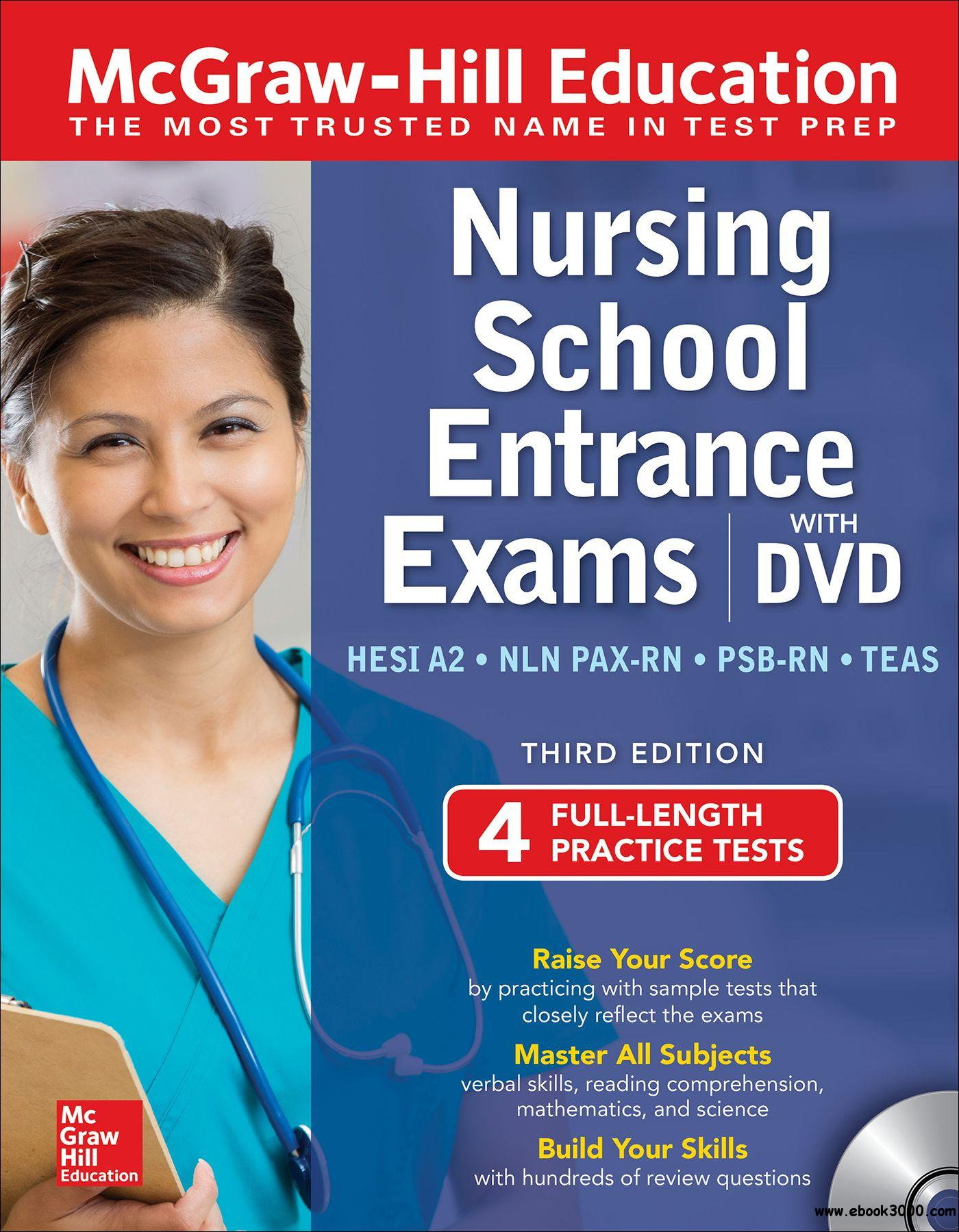 McGraw-Hill Education Nursing School Entrance Exams with DVD, 3rd Edition (Only ebook)