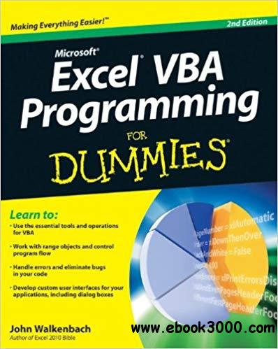 Excel? VBA Programming For Dummies?, Second Edition