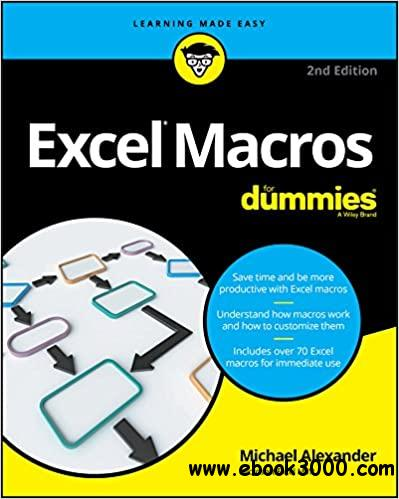 Excel Macros For Dummies (For Dummies  Ed 2